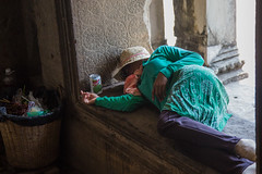 To be fair, it's very hot... (Ring a Ding Ding) Tags: sleeping canon temple asia cambodia angkorwat unescoworldheritagesite siemreap hinduism krongsiemreap