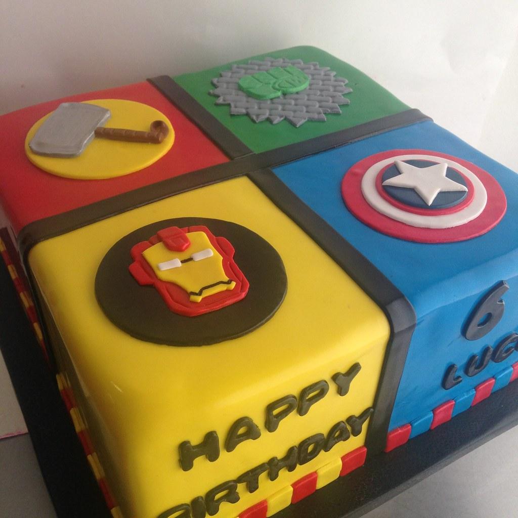 Batman Face Birthday Cake