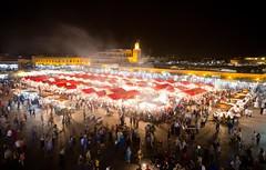 Glowing Tents - Marrakesh (JoeyHelms Photography •2.5MViews&10kFollowers•) Tags: africa people night place market outdoor el morocco marrakech marrakesh arabian crowds lightroom fna jemaa joeyhelms joeyhelmsphotography