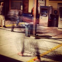 4 June 2015 (Frankenstein) Tags: caltrain squareformat commute paloalto palo alto commuters slowshutterspeed nicebike iphoneography instagramapp