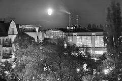 Blick auf den Bahnhof Ostkreuz bei Nacht
