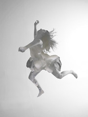 The Fall (lukerw269) Tags: white abstract water clouds canon studio action surreal dancer falling portraiture 5d fullframe dslr abstractportrait