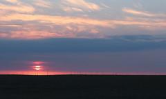 Sonnenuntergang (Klaus R. aus O.) Tags: blue sunset sun field clouds heaven sonnenuntergang feld himmel wolken hour cereals windrad sonne acker blaue getreide stunde