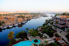 Morning view of the Nile from Old Cataract Hotel, Aswan / Egypt (anji) Tags: aswan misr masr middleeast northafrica maghreb egypt nile assouan