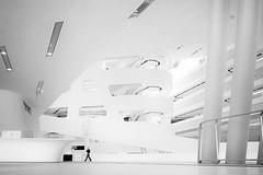 ... oneye... (ines_maria) Tags: humaningeometry vienna urban city library wuvienna bw light architecture zahahadid