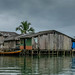 Houses built on stilts in Nuqui, Choco
