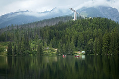 trbsk Pleso (Elle_Zee) Tags: slovakia high tatras mountains canoe