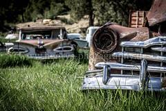 Junkyard Impala (Da_Hmc) Tags: road old trip blue sky usa chevrolet broken closeup grey us nationalpark rust sony rusty pickup roadtrip canyon oldschool henry chevy classics bryce zion impala westcoast 59 facebook carporn worldcars a6000 henrysphotographyde ilc1650