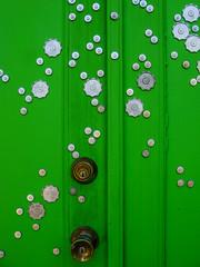 Green Door (prima seadiva) Tags: detail garage green johnst capitolhill chs urbanfragments
