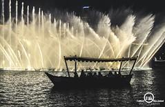 The Dubai Fountain (farhan____photography) Tags: building water fountain boat awesome khalifa burj burjkhalifa