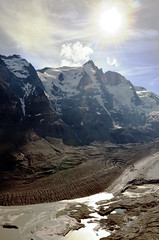 glockner und gletscher (michael pollak) Tags: grosglockner hochalpenstrasse alpen alps österreich anreisetag familienausflug glocknergruppe pasterze gletscher
