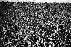 Photo of a Photo of a Crowd (bhop) Tags: california leica blackandwhite bw white black art classic film museum 35mm los downtown angeles kodak iso400 f14 voigtlander trix crowd rangefinder 400tx broad photoofaphoto m6 nokton