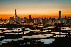 Sunset Moment () Tags: leica m9 voigtlander nokton 50mm f15 aspherical rangefinder asph rf landscape sunset twilight photography hongkong hk city nature orange sky