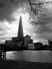 The Shard (KilgoreTout) Tags: shard thames london x20 fujifilm bw