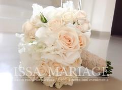 buchet-mireasa-din-hortensia-alba-si-trandafiri-capucino (IssaEvents) Tags: buchet de mireasa cu dantela si trandafiri capucino hortensia issamariage issaevents valcea sibiu bucuresti