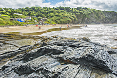 Tresaith from the Waterfall (A Parkin Photography) Tags: ceredigion cardigan bay tresaith wales summer sun beach sailing