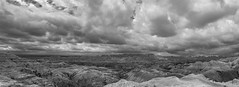 Monochromatic Badlands (s.d.sea) Tags: badlands national park canyons monochrome black white blackandwhite bw landscape pano panorama south dakota midwest travel pentax k5iis 15mm stitched sky clouds