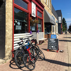 Coffee and Downie: Port Elgin, August 20, 2016 (Craig James White) Tags: canada ontario brucecounty saugeenshores portelgin coffee