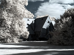 Abandoned Chapel in Parkland (2) (fish95th) Tags: canong12 infrared oxfordshire southoxfordshire cholsey oxfordshirechurches gimp