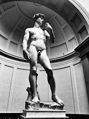 Standing tall - iPhone (Jim Nix / Nomadic Pursuits) Tags: landmark michelangelo david sculpture statue firenze florence italy europe travel snapseed iphone