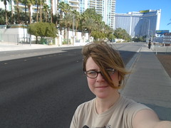 I went to Las Vegas and all I got was this stupid picture (SunSirrah) Tags: windblown sarah self vegas vegaswedding