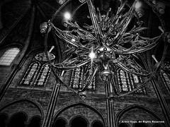 Chandelier (Armin Hage) Tags: chandelier notredamedeparis notredame paris france gothic frenchgothic altar nave cathedral arminhage
