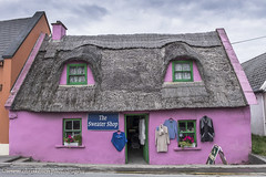 Sweater Shop (www.chriskench.photography) Tags: kenchie 18135 eec eire europe fujifilm galway ireland travel wwwchriskenchphotography xt1 clare ie architecture history thatch thatchedcottage pink colour color