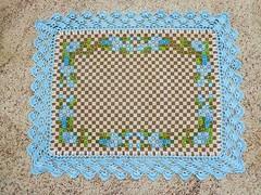 37 (AneloreSMaschke) Tags: tecido xadrez bordado artesanato flores