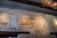 Pompeii - Lupanare Erotic Wall Art Via Del Lupanare (VII.12.18) 2 (Le Monde1) Tags: italy pompeii campania oscocampanian vesuvius basilica forum lemonde1 nikon d610 unesco worldheritagesite volcano mountvesuvius volcanic eruption lava pyroclastic 79ad mosaic art lupanare entrance viadellupanare vii1218 wall painting erotic decoration brothel girls