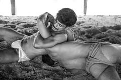 Fight Club-DSC_1611 (thomschphotography3) Tags: blackandwhite india men naked outdoor wrestling varanasi gym benares sportsmen akhara schwarzweis kushti pehlwan