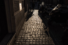 Early morning sun (jayteacat) Tags: italy sunlight rome roma italia cobblestones earlymorningsun d810