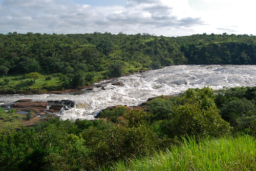 Victoria Nile upstream of the Falls