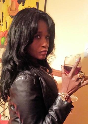 A glass of wine for Sabine Mondestin