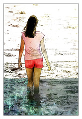 (Christian Bachellier) Tags: girl photoshop sketch femme dessin