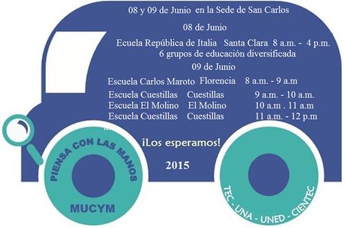 Mucym abierto en TEC San Carlos, 8 y 9 de junio 2015