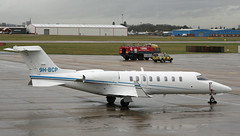 9H-BCP Skyfree Learjet 45 CVT 28-01-14 (1) (cvtperson) Tags: airport 45 coventry learjet cvt egbe 9hbcp