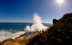 Blow hole (RaviPurpuri) Tags: ocean california ca santacruz sc canon photography fisheye blowhole 6mm 50d oceanscape ryp