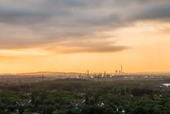 Morning Mist (Fabian F_) Tags: morning mist industry clouds sunrise canon germany deutschland arena nrw gelsenkirchen ruhrgebiet bottrop tetraeder