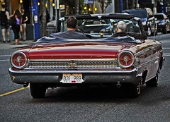 Denman Street (popeye logic) Tags: street west ford car vancouver vintage end 500 galaxie denman