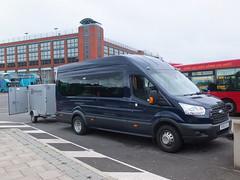 Robinsons PF16YZJ Derby (Guy Arab UF) Tags: bus ford buses station holidays derbyshire luggage blackburn transit trailer derby minibus robinsons pf16yzj