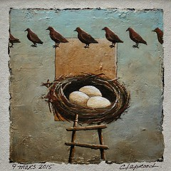 9 mars 2015 - March 9, 2015 (marieclaprood) Tags: art illustration painting acrylic drawing surrealist birds nest marieclaprood dailypainting