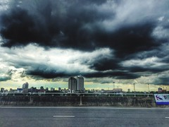 Side View in Bangkok On My Way Tower City Cityscapes Clouds And Sky IPhoneography (Dari_Extension) Tags: sideview bangkok onmyway tower city cityscapes cloudsandsky iphoneography