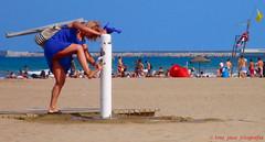 beach activity II (toni jara) Tags: people costa beach valencia girl candid paisaje shore upskirt malvarrosa