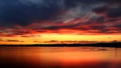 Crpuscule (pascal_roussy) Tags: coucherdesoleil sunset crpuscule nature rouge couleur eau water paysage landscape