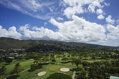 Green and Blue  (Alpha 2008) Tags: blue sky green clouds golf landscape island hawaii oahu sony course   alpha