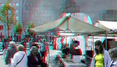De Markt Rotterdam 3D (wim hoppenbrouwers) Tags: demarkt rotterdam 3d markt anaglyph stereo redcyan blaak