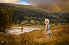 ... colour of the rainbow ... (Margarita K...) Tags: southwales south wales beautifulwales talybont reservoir child childhood fairytales portrait ngc girl lake landscape nikon d5200 mkphotography margaritakphotography