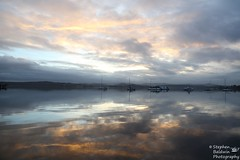 0D6A1877 - Sunset at Warners Bay (Stephen Baldwin Photography) Tags: trees lake water landscape bay waterfront macquarie foreshore boast warners