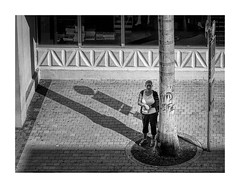 Trying To Hide (icypics) Tags: portrait shadows florida miami candid streetphotography