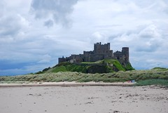 Bamburgh Castle pre 1095 (floato) Tags: uk blue england sky cloud detail green castle beach coast sand scenery view britain north scene east professional clear excellent strong fortifications bamburgh stronghold fortress magnificent normans inhabited britons brtain floato 420ad 1095ad